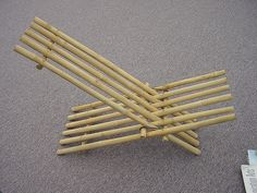 bamboo folding chair | a simple bamboo chair, meant to be ma… | Flickr