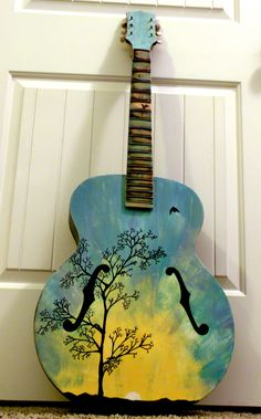 painted guitar....:)