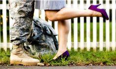 military couple idea, make sure they wear a bright colored shoe.