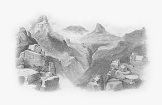 Colorado Mountain Landscape Drawing