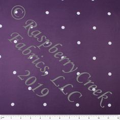 7902be747a2 -Eggplant Purple and White Wide Dot 4 Way Stretch Double Brushed Poly Knit  Fabric,