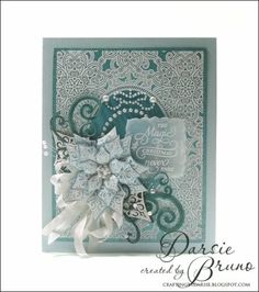 Festive Poinsettia Clear Stamps - by Just Rite, co ordinates with Spellbinder Poinsettias