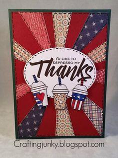 Handmade card by Celeste using the Three Cheers Digital set from Verve. #vervestamps #patriotic