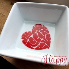Simple Ring Dish for Jewelry All We Need is Love by HappyTessa