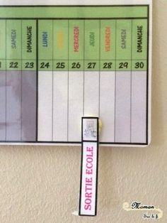 Activités Enfants - Apprentissage de la Notion du temps, des mois, des semaines, des jours de la semaine, des saisons - Poutre du temps d'inspiration Montessori à télécharger et à imprimer - printable gratuit fait maison - vacances scolaires toutes zones - DIY - issu du blog Maman Sur Le Fil