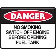 Danger No Smoking Switch Off Engine #Mining_Site_Signs #Creations #Group http://www.creationsgroup.com.au/products/mining-safety-signage-/mining-site-signs/danger-no-smoking-switch-off-engine-