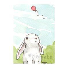Rabbit and balloon