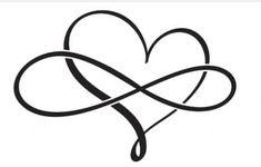 Tribal Tattoos, Tattoos Skull, Dog Tattoos, Tattoos For Guys, Tatoos, Heart With Infinity Tattoo, Tattoos Infinity, Tiny Wrist Tattoos, Mother Daughter Tattoos