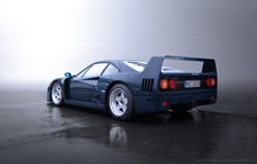 This might be the only blue Pozzi blue is a rare paint finish created in honor of the French Ferrari importer Pozzi. It is rumoured to have been one of Enzo's favourite colours. Ferrari F40, Lamborghini Gallardo, Maserati, Bugatti, My Dream Car, Dream Cars, Chasing Cars, Nissan 370z, Pagani Huayra