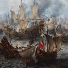 Battle of Scheveningen Anglo Dutch Wars, Nautical Pictures, Flying Dutchman, Ship Drawing, Ship Paintings, Naval History, Old Maps, Sea Monsters, Navy Ships