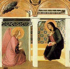 Pietro Lorenzetti - Annunciazione del Polittico d'Arezzo - 1320 - Pieve di Santa Maria, Arezzo