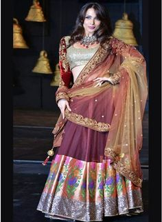 Malaika Arora Maroon #Lehenga At Blenders Pride #Fashion 2013