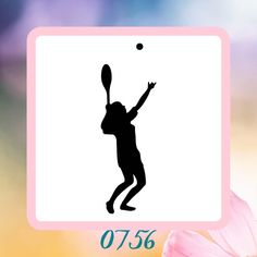 A personal favorite from my Etsy shop https://www.etsy.com/listing/223190003/tennis-player-silhouette-reusable-craft