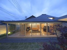 Image 1 of 10 from gallery of Broken Pitched Roof House / NKS Architects. Photograph by NKS Architects House Of The Rising Sun, Roof Architecture, Residential Architecture, Japanese House, House Roof, Outdoor Living, House Design, House Styles, Building