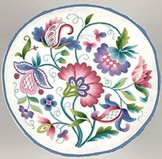 Queen's Garden Crewel Embroidery     JCA Crewel Embroidery Kit from the Elsa Willliams Collection
