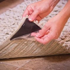Bathmats, Rugs & Toilet Covers Non Slip Rug Carpet Mat Grippers Corners Reusable Anti Skid Washable Grip & Garden