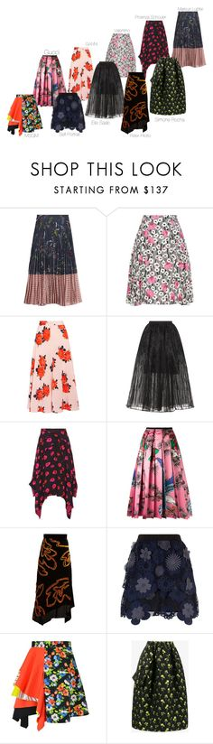 """Untitled #1843"" by bettinakhrn ❤ liked on Polyvore featuring Markus Lupfer, Valentino, Ganni, Elie Saab, Proenza Schouler, Gucci, Peter Pilotto, self-portrait, MSGM and Simone Rocha"