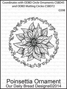 Stamps - Our Daily Bread Designs POINSETTIA ORNAMENT