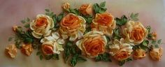 Gallery.ru / arrangement of yellow roses - Embroidery ribbons, Part 2 - silkfantasy