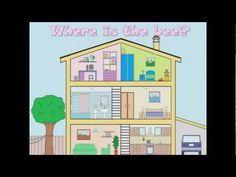 Mijn huis, Engelse Flashcards om aan kleuters Engels te leren, kleuteridee.nl , English flashcards; my house