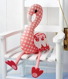 These Free Stuffed Animal Patterns to Stitch Up a New Friend for Your Little One Cute Stuffed Flamingo - Link to fab post with lots of free toy patterns to make Stuffed Flamingo - Link to fab post with lots of free toy patterns to make Animal Sewing Patterns, Sewing Patterns Free, Free Sewing, Doll Patterns, Free Pattern, Softie Pattern, Clothes Patterns, Knit Patterns, Dress Patterns