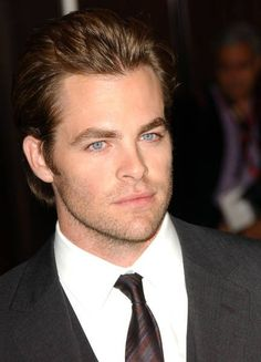 Chris Pine: Yeah, those eyes are real ;)