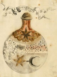 Alchemy and Mysticism Speciesbarocus: Alchemical manuscript. From Manly Palmer Hall's Collection Medieval Manuscript, Medieval Art, Medieval Fantasy, Illuminated Manuscript, Alchemy Art, Esoteric Art, Occult Art, Nature Images