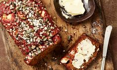 Yotam Ottolenghi's beetroot, caraway and goat's cheese bread.