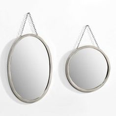 Miroir Barbier, rond ou ovale2 formes : forme ovale (dim. 30 x 45 cm), forme ronde  (diamètre 30 cm). AM PM