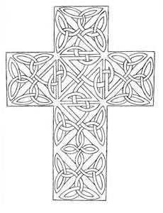 Celtic Cross Coloring Page Pages