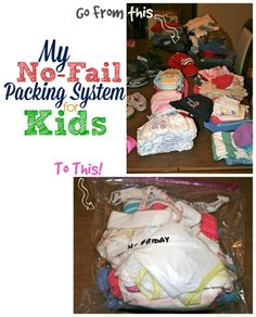 My No-Fail Packing System for Kids. Get organized and stay organized for your whole trip. Here's my one simple trick to making traveling with kids (and all.their.stuff) a breeze!