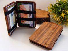 Wooden wallet credit card wallet men's wallet slim