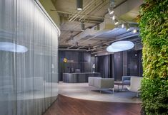 CannonDesign has completed the offices for real estate investment company CA Ventures, located in Chicago, Illinois. CA Ventures, a real estate investment Real Estate Investment Companies, Modular Lounges, Office Space Design, Office Plants, Waiting Area, Lounge Seating, Office Interiors, Interior Office, Entry Foyer
