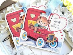 NEW  Vintage Car You Auto Be My Valentine by LittlePaperFarmhouse, $5.95