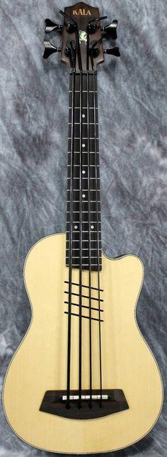 Kala HH U-Bass #LardysUkuleleOfTheDay ~ https://www.pinterest.com/lardyfatboy/lardys-ukulele-of-the-day/ ~  No cheese today