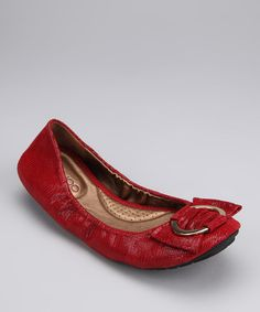 Take a look at this Bordo Lizard Liza Ballet Flat by Me Too on #zulily today!