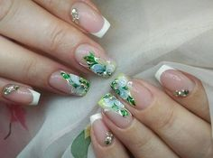 90+ french tip acrylic nails square 2018