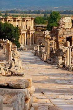 Ephesus Tours, Turkey: Depart from Kusadasi, Izmir or Istanbul. We are the leading Guided Ephesus Tours and Shore Excursions service provider. Places Around The World, Oh The Places You'll Go, Travel Around The World, Places To Travel, Places To Visit, Around The Worlds, Kusadasi, Ancient Ruins, Ancient Greece