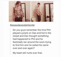 """This was adorable. But honestly, his thoughts were probably """"Where the hell is Phil, I'm not moving this heavy-ass wardrobe by myself"""""""