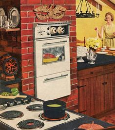 Tappan kitchen 1963 A oven up high?  What more could a woman want?  And Aunt Nita had a dishwasher!