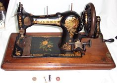 JONES' CS FAMILY HAND CRANK SEWING MACHINE PAT. MAR. 29, 1893-GOOD WORKING COND  #JONES