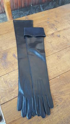 Fancy - Long leather gloves for ladies