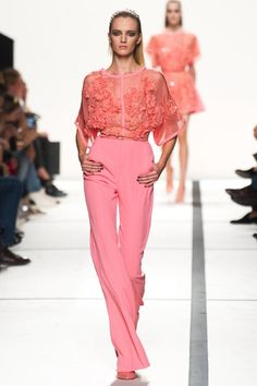 "Elie Saab-This color! PinkISH? Not your everyday Pink. Reminds me of the sun rising over the Ocean. U get a ""flash"" of the same shade for a second or 2. I need a name! (Spring/Summer 2014)"