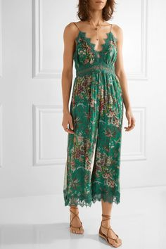 Zimmermann | Tropicale printed crinkled silk-georgette jumpsuit | NET-A-PORTER.COM