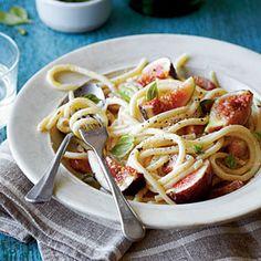 Pancetta-and-Fig Pasta | MyRecipes.com