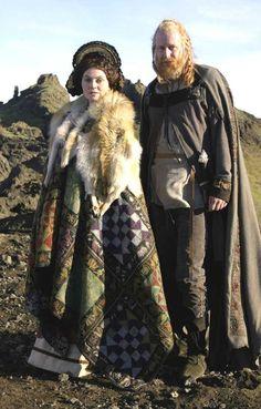 Stellan Skarsgard and Steinunn Ólína Þorsteinsdóttirr in Beowulf & Grendel (2006)