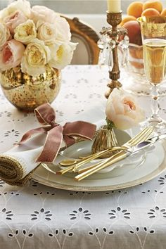blush and gold.  I would change the bowl to a cream or crystal color, but the flowers I think are the colors you wanted.