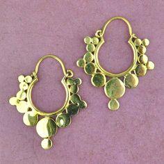 Angkor Style Brass Earrings