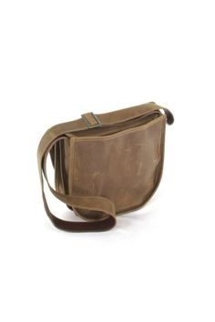 Brown distressed leather bag made by Charlie's Leather Company. The scratches and wrinkles as well as variations in the tone of this product are authentic features of genuine cowhide leather- they are not imperfections. Your bag will continue to soften and take a better look as is used combined with the oils from your body. We recommend using mink oil or a soft cloth to clean all of our genuine cowhide leather products. Color and print may vary. Brown Distressed Bag by Charlie Leather…