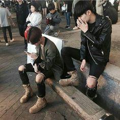 boys, ulzzang, and korean Bild Boys Korean, Korean Boys Ulzzang, Korean Couple, Ulzzang Boy, Cute Korean, Asian Boys, Couple Ulzzang, Boy Squad, Lgbt